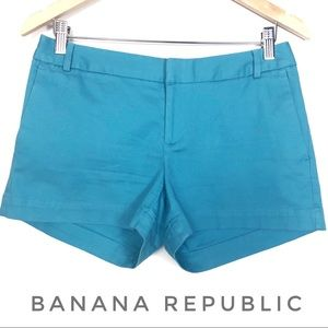 Banana Republic Ryan Fit Teal Shorts